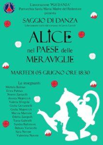 """ASD PGS SMMR - sez. Danza presenta: Saggio di danza 2018 - """"Alice nel paese delle meraviglie"""" @ Teatro Parrocchia Santa Maria Madre del Redentore   Roma   Lazio   Italia"""