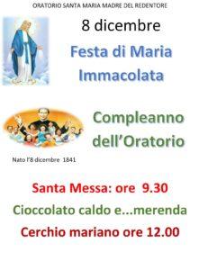 Festa di Maria Immacolata - Compleanno dell'oratorio @ Parrocchia Santa Maria Madre del Redentore