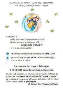 Gara dei presepi @ Teatro Parrocchia Santa Maria Madre del Redentore | Roma | Lazio | Italia