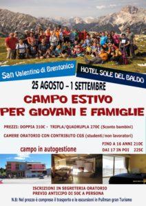 Campo giovani e famiglie 2019 @ Hotel Sole del Baldo (San Valentino di Brentonico) | San Valentino | Trentino-Alto Adige | Italia