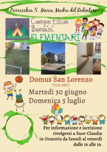 Campo Estivo Elementari 2020 @ Domus San Lorenzo Treia (MC) | Marche | Italia