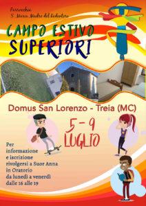 Campo Estivo Superiori 2020 @ Domus San Lorenzo Treia (MC) | Marche | Italia