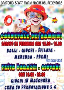 Carnevale dei bambini e festa dei ragazzi/giovani 2020 @ Oratorio Parrocchia Santa Maria Madre del Redentore | Roma | Lazio | Italia